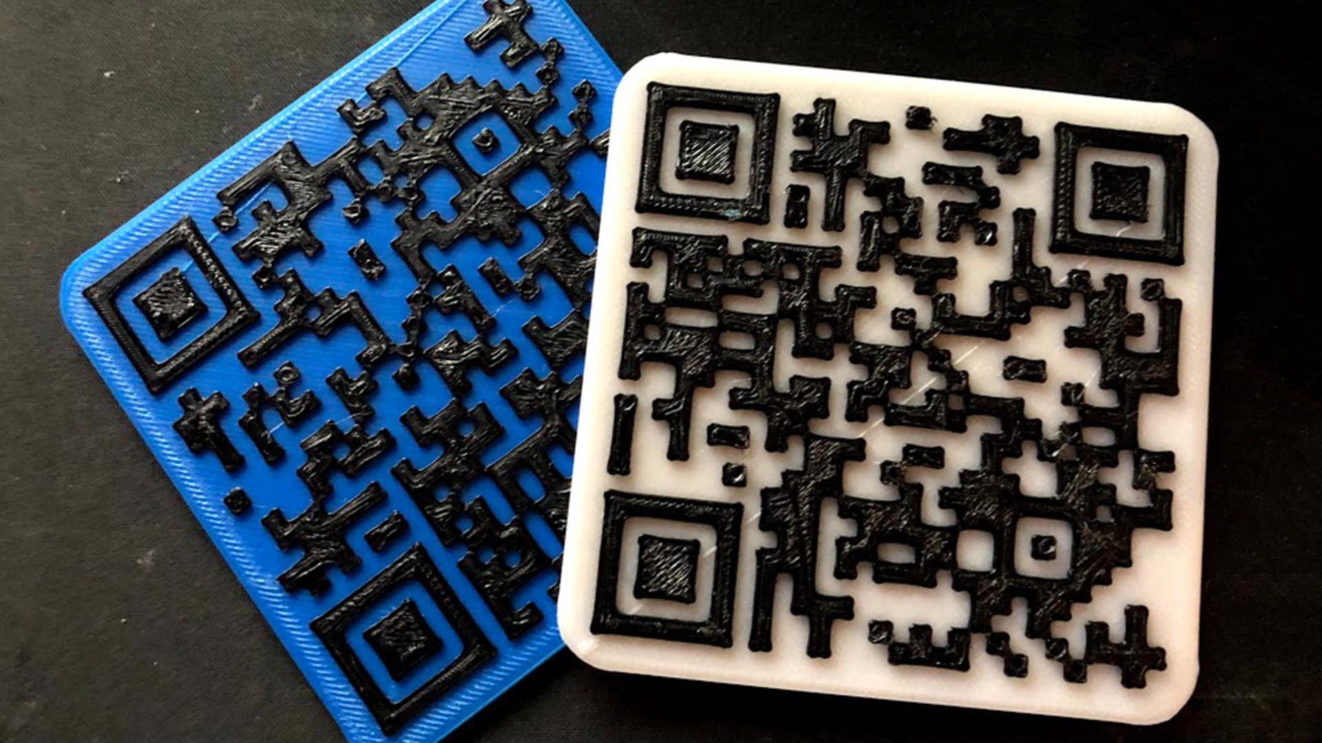 3D Printed QR WiFi Puck